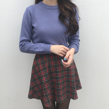 Solid Tone Basic Fit Knit Sweater