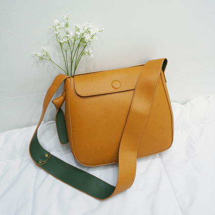 Two-Tone Mini Flap Front Shoulder Bag
