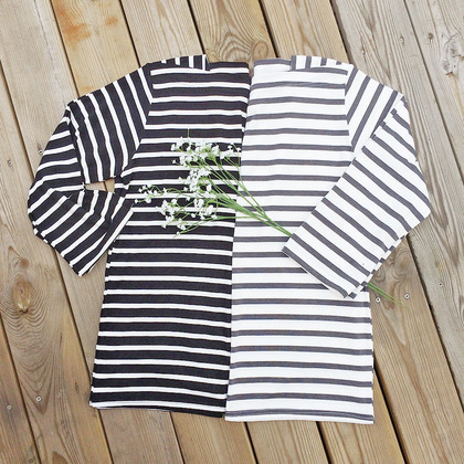 Striped Square Neck T-Shirt