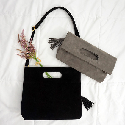 Tassel Detailed Foldover Bag