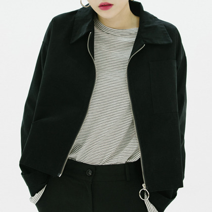 Boxy Zip-Front Jacket