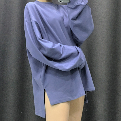 Dipped Hem Oversized Sweatshirt