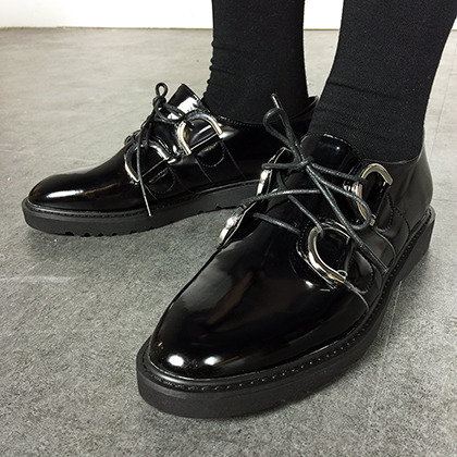 D-Ring Detailed Lace-Up Loafers