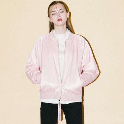 HIDE AND SEEKSilky Blouson Zip-Up Jacket