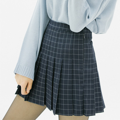 Graph Check Tennis Skirt