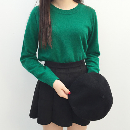 Basic Angora Wool Sweater