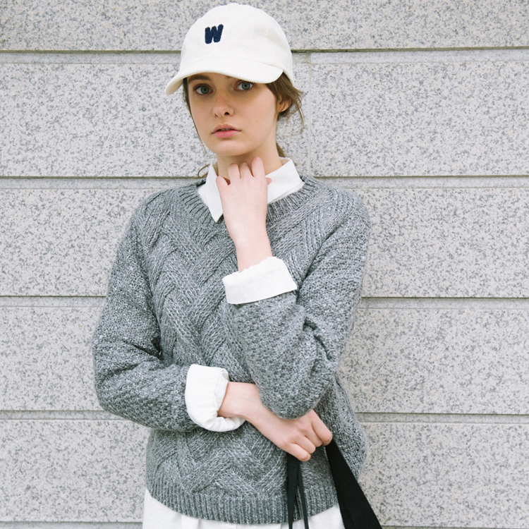 Corduroy Letter Patch Baseball Cap