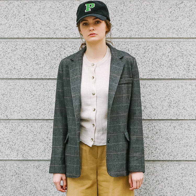 Check Herringbone Jacket