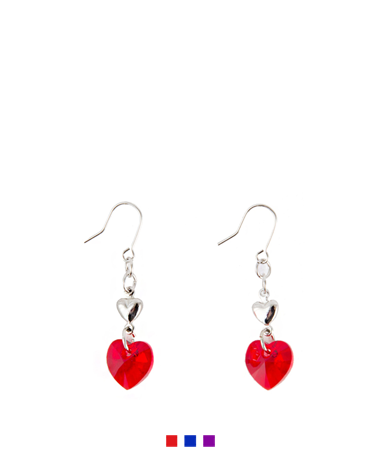 Double Heart Hook Earrings