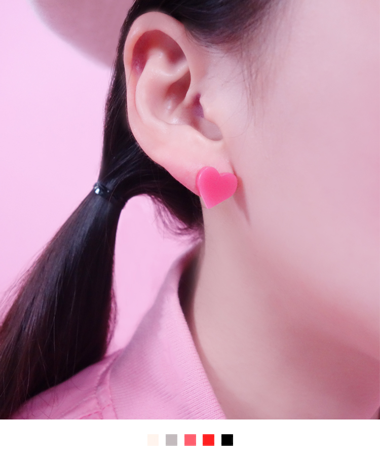 Heart Shaped Plastic Earrings