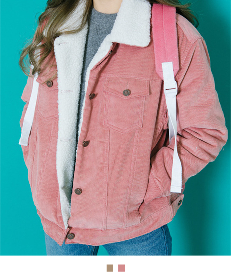 Fur Collar Corduroy Jacket