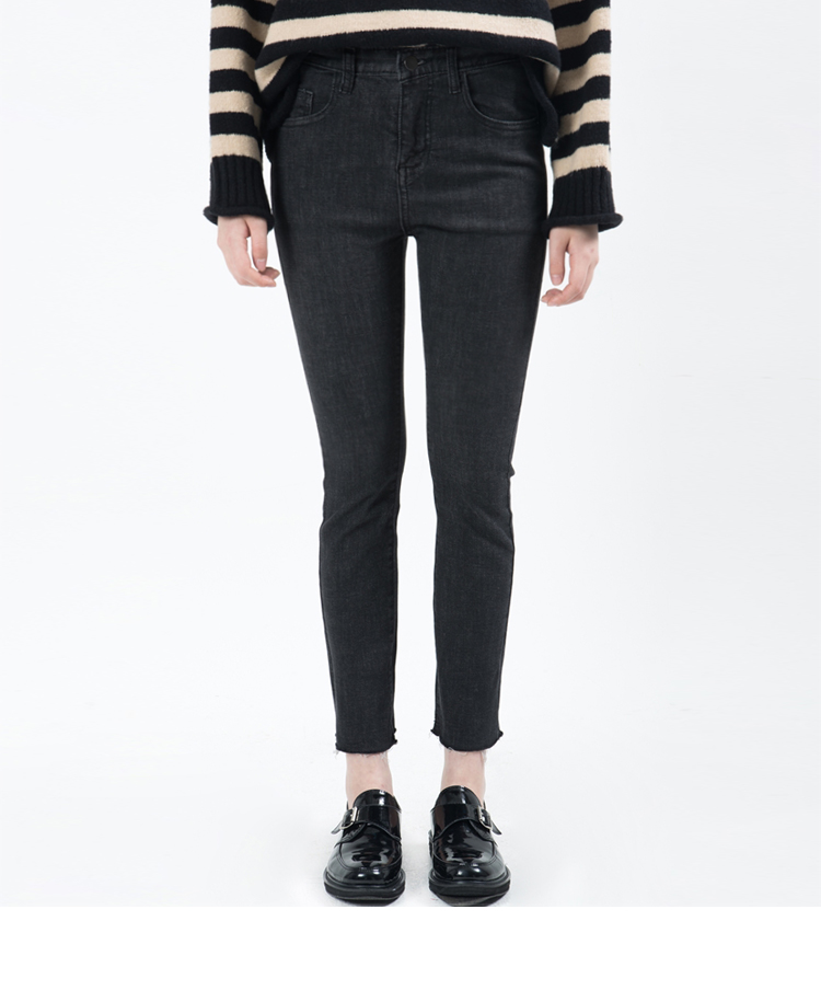 Black Ankle Cut Slim Jeans