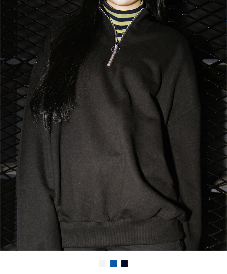 Zipped High Neck Sweatshirt