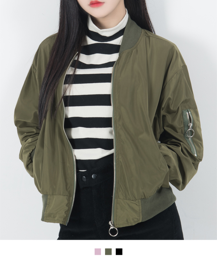 Ring Pull Zip-Front Jacket