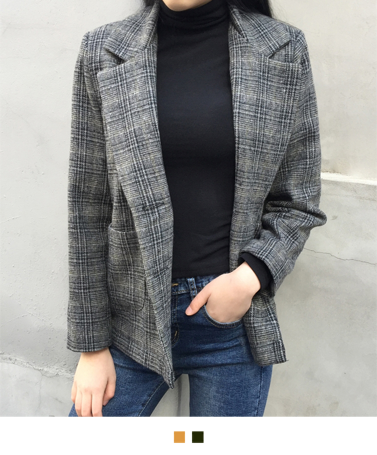 Glen Check Quilt-Lined Jacket