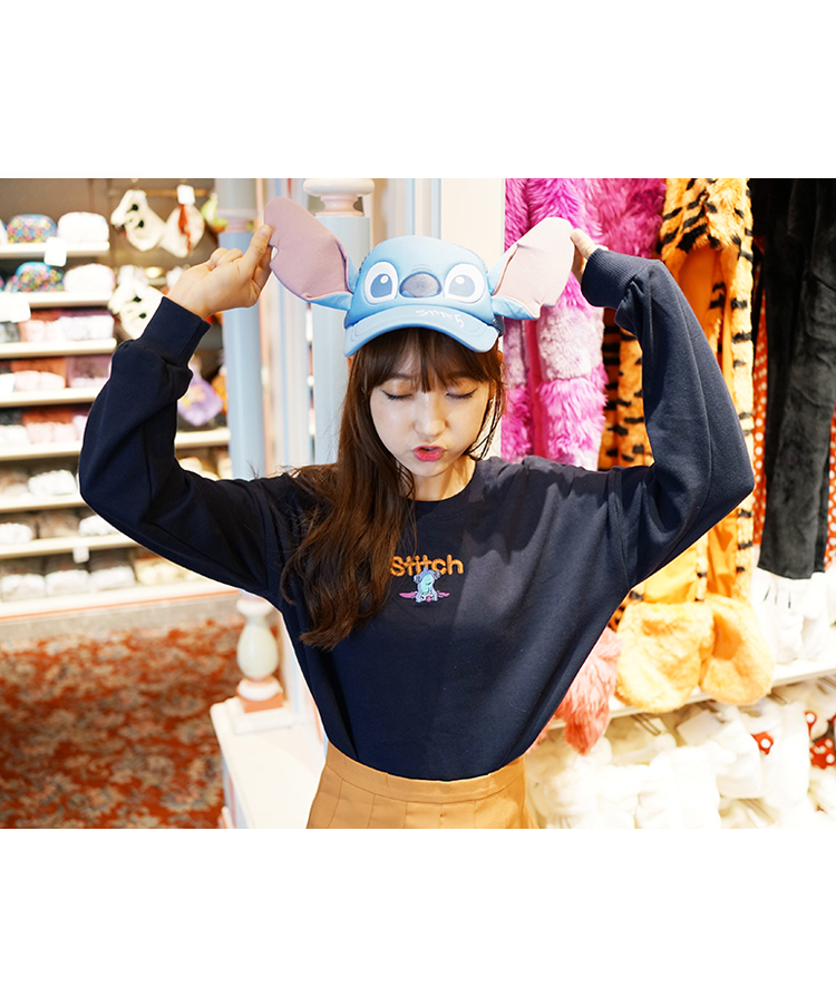 99bunnyEmbroidered Cartoon Detail Sweatshirt