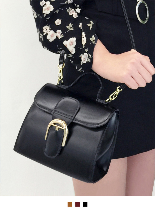 Buckle Accent Mini Flap Bag