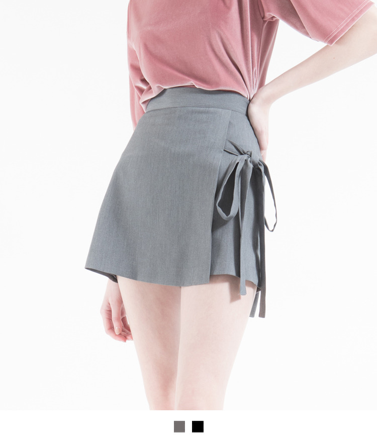 Side Ribbon Detail Mini Skort