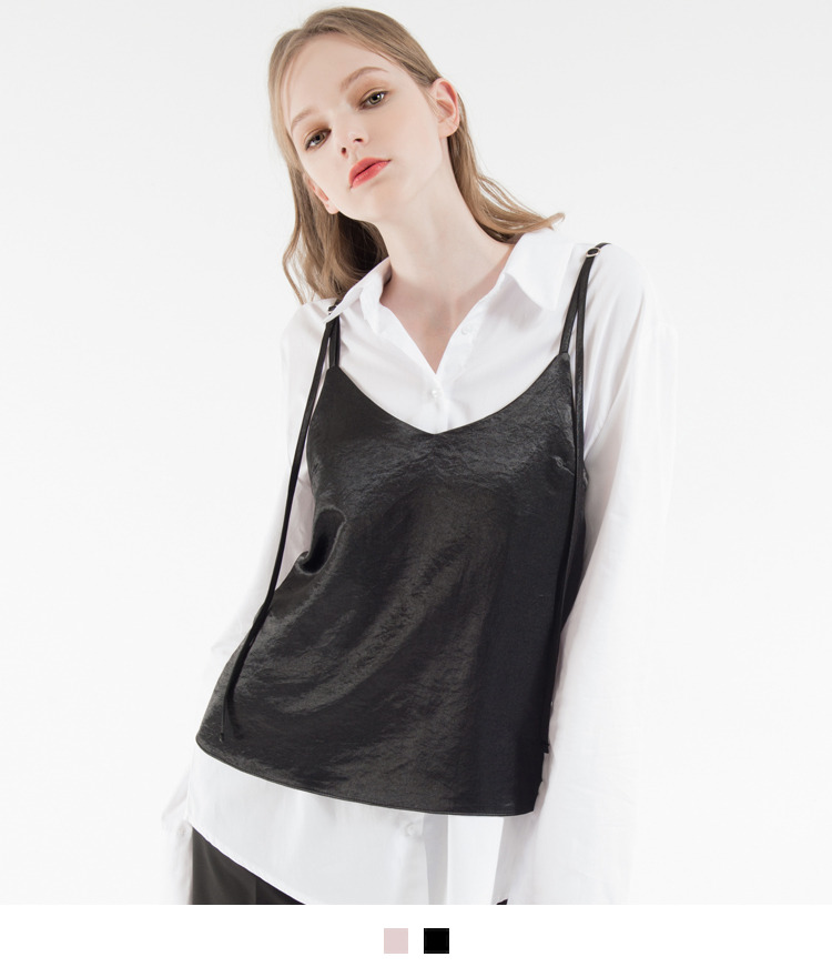 Adjustable Strap V-Neck Top