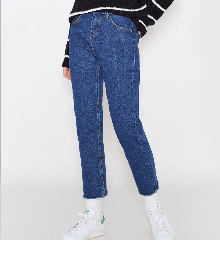 Straight-Leg Cropped Denim Jeans