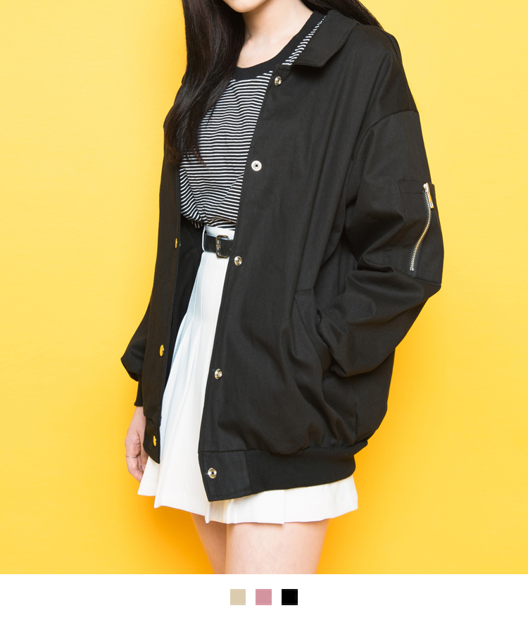 Collared Snap-Front Jacket