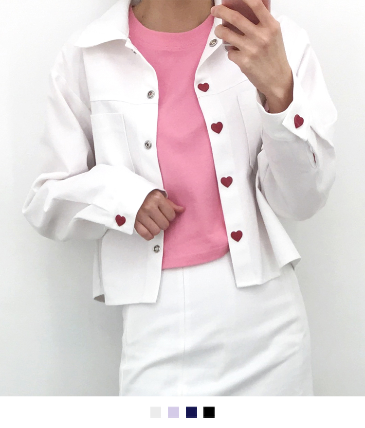 HEART CLUBHeart Button Boxy Jacket