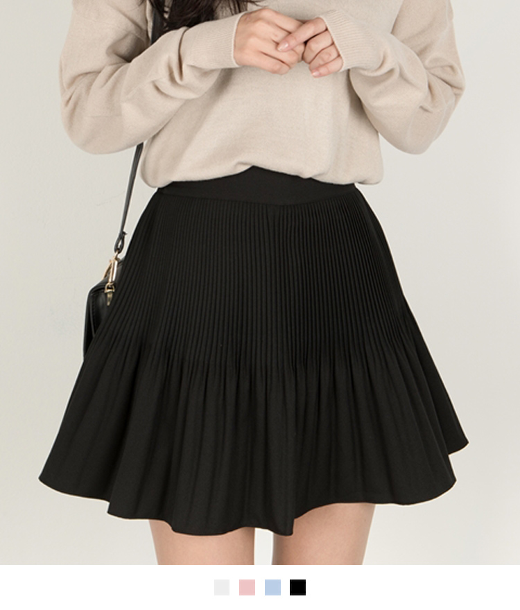 Crystal Pleated Mini Skort