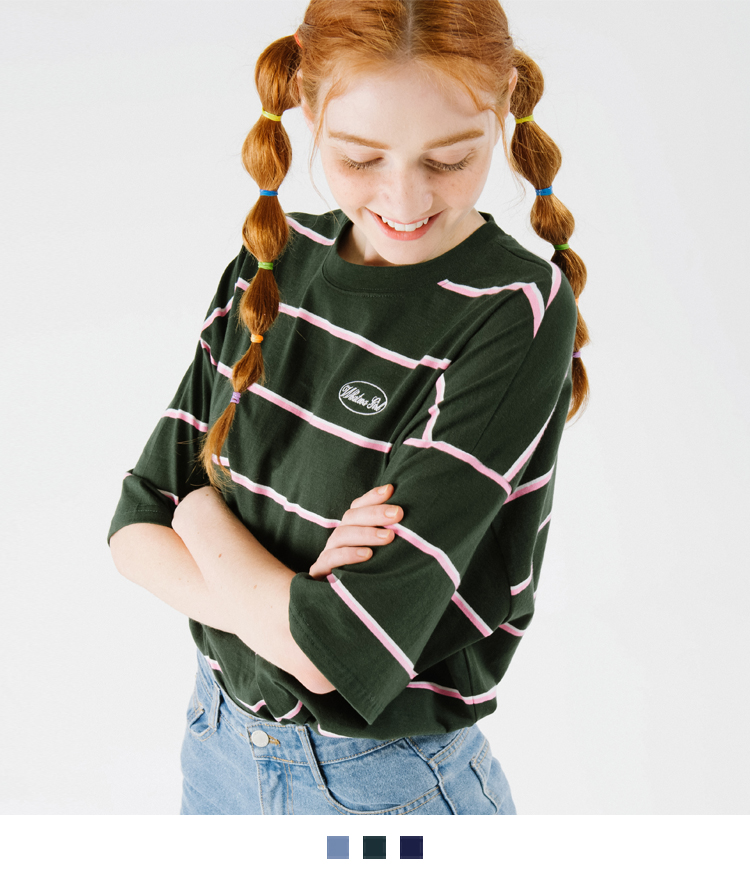 WHATEVA GIRL Striped T-Shirt