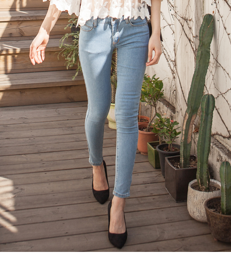 Basic Light Blue Skinny Jeans