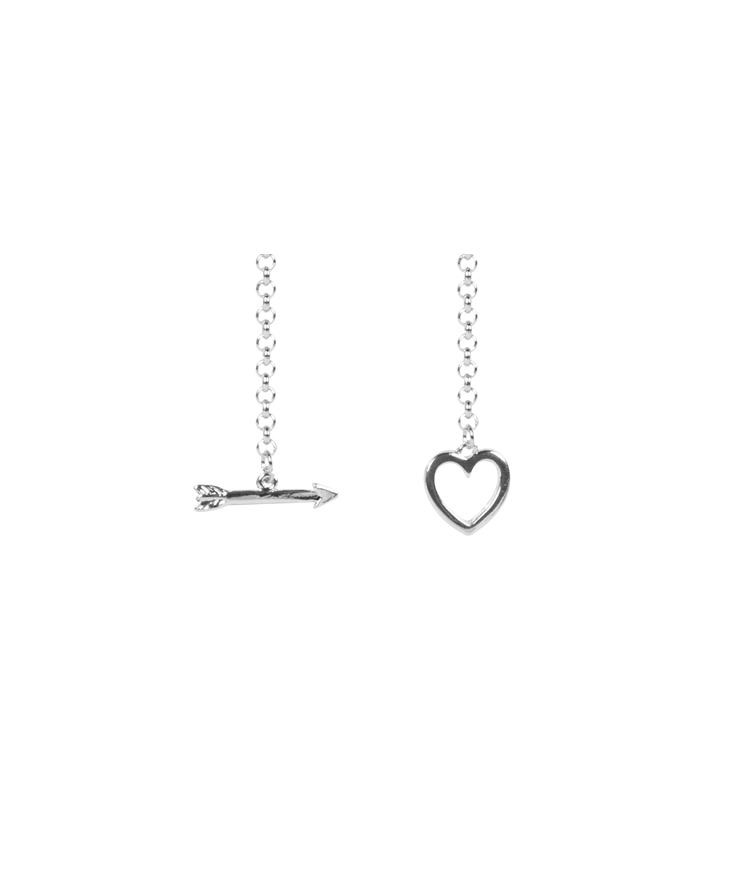 Heart And Arrow Chain Necklace