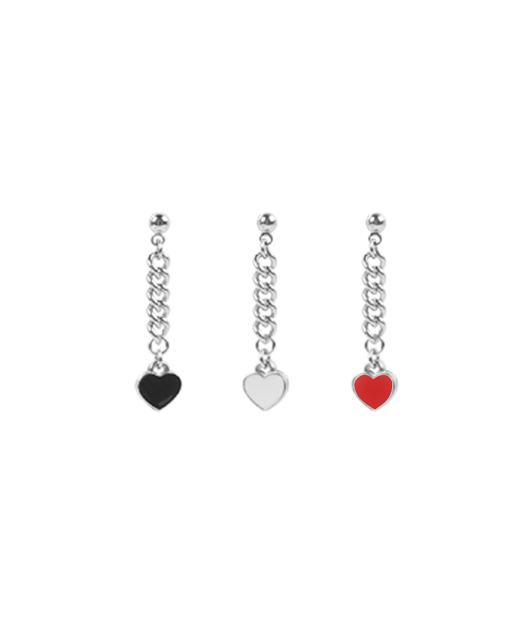 SEANLIPDangling Heart Detail Chain Earrings