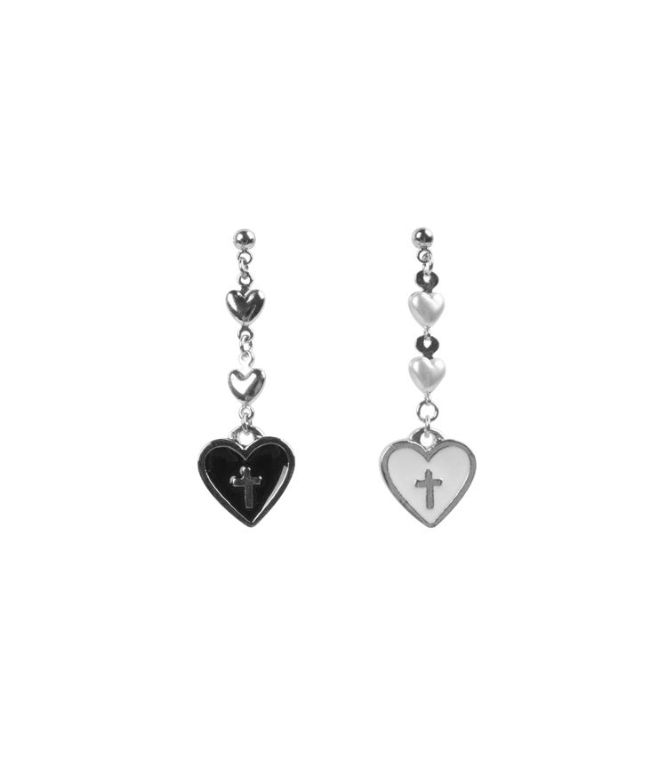 Cross Heart Earrings