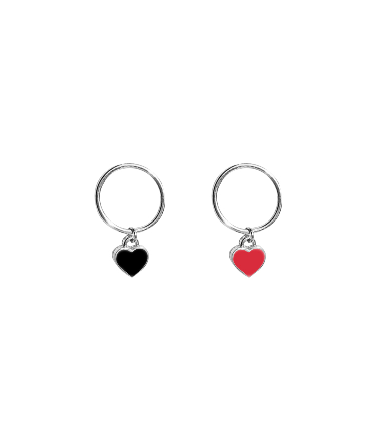 Heart Pendant Earrings