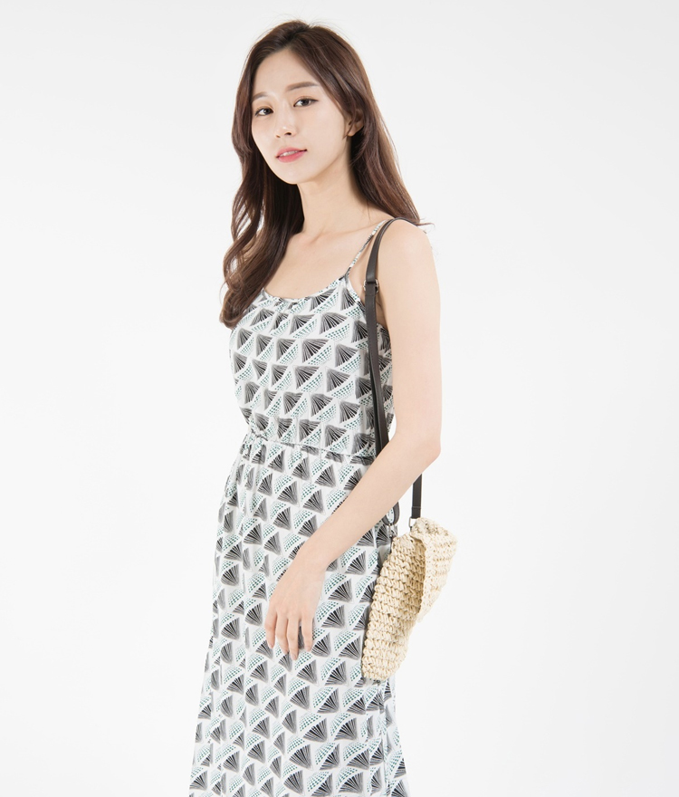 Patterned Sleeveless Midaxi Dress