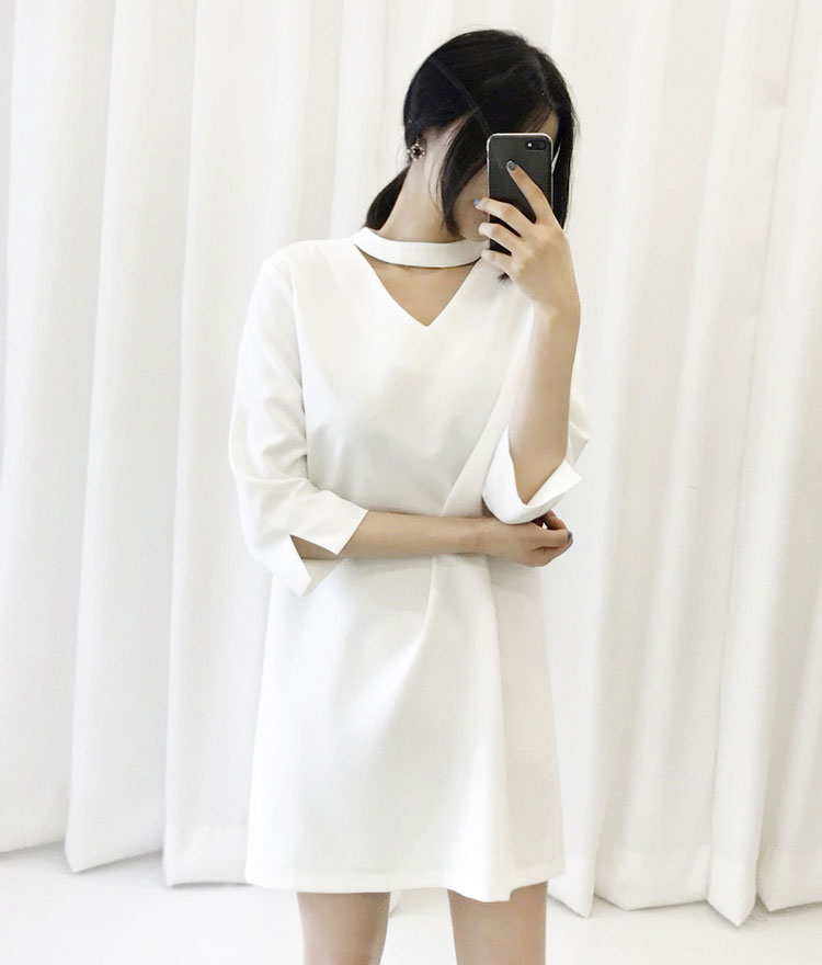 Cutout 3/4 Sleeve Dress