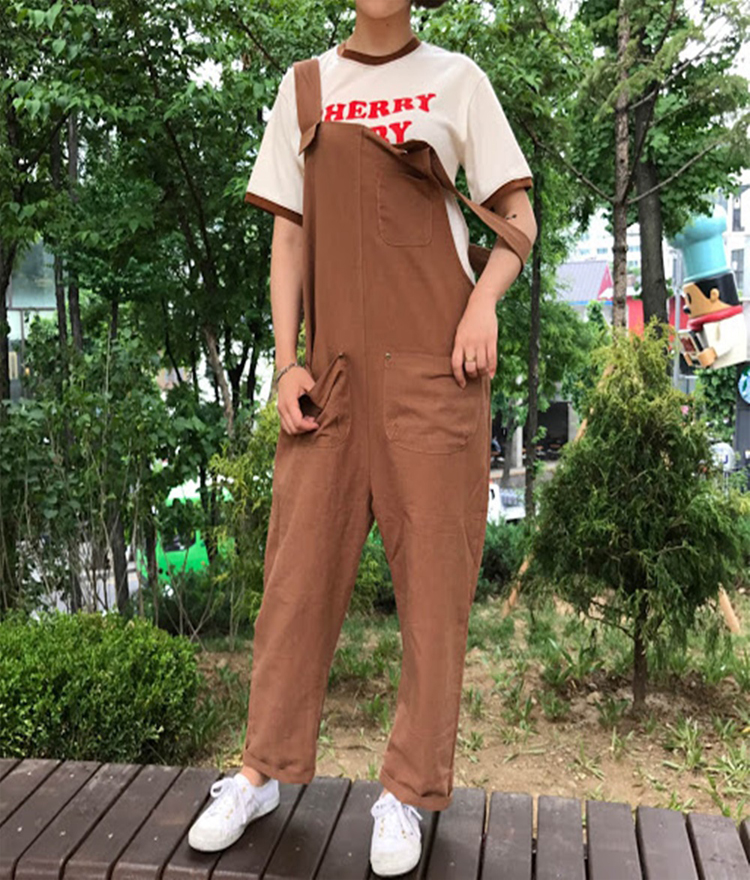 Patch Pocket Overall Pants