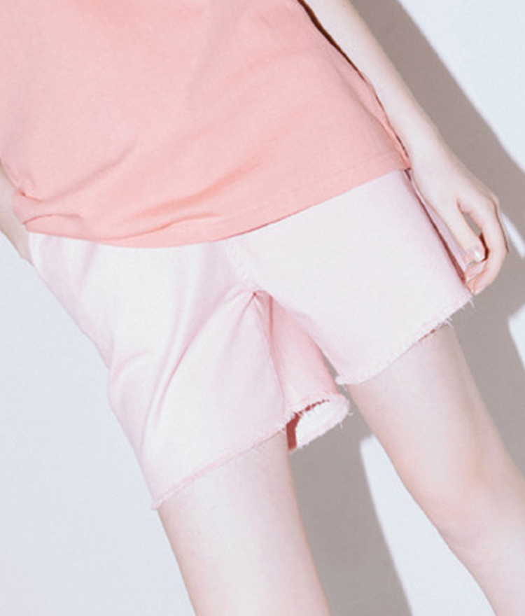 HIDE AND SEEKElastic Waist Frayed Hem Shorts