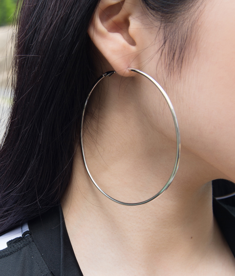 Simple Big Hoop Earrings