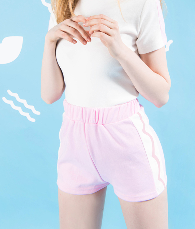 Side Line Contrast Shorts
