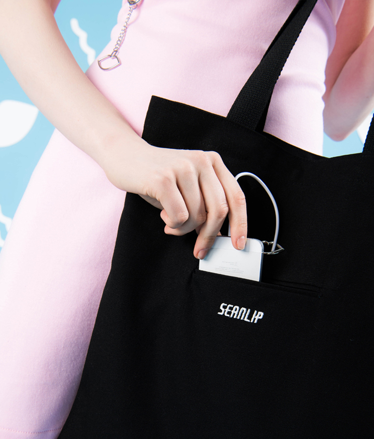 SEANLIPLip Cut-Out Detailed Fabric Bag