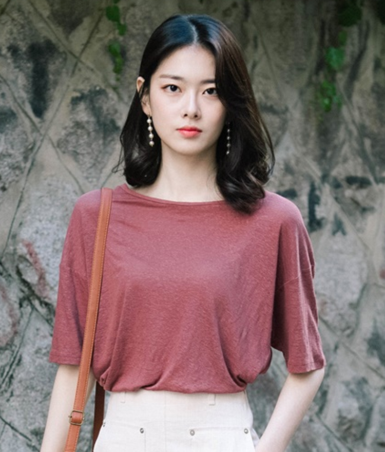 Loose Fit Round Neck T-Shirt