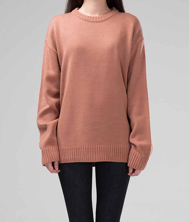365BASICBasic Knit Round Neck Sweater