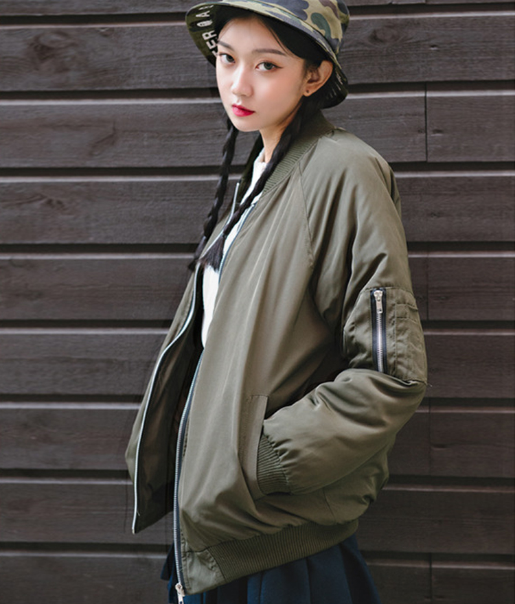 Quilt Lined Loose Fit Jacket