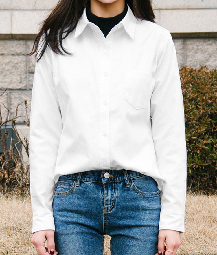 Cotton Blend Button-Down Shirt