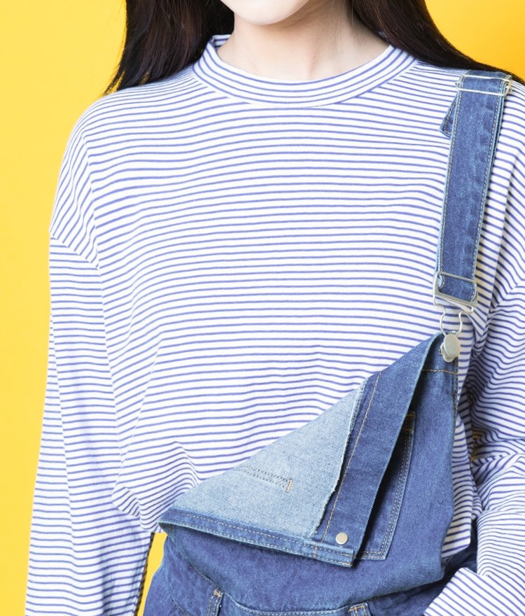 Basic Stripe Print Top