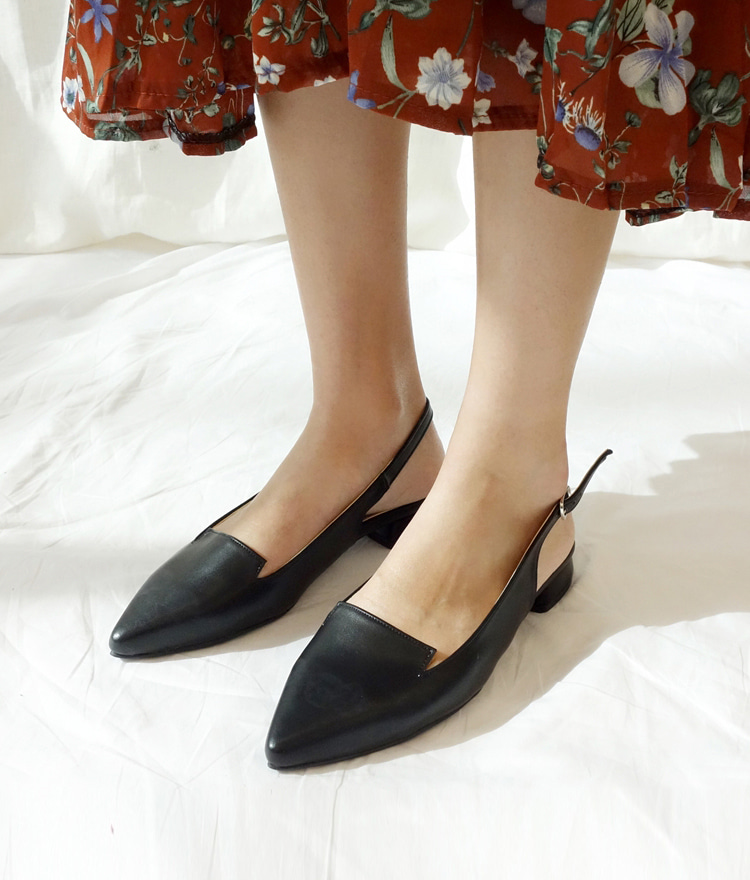 Pointed Toe Slingback Shoes