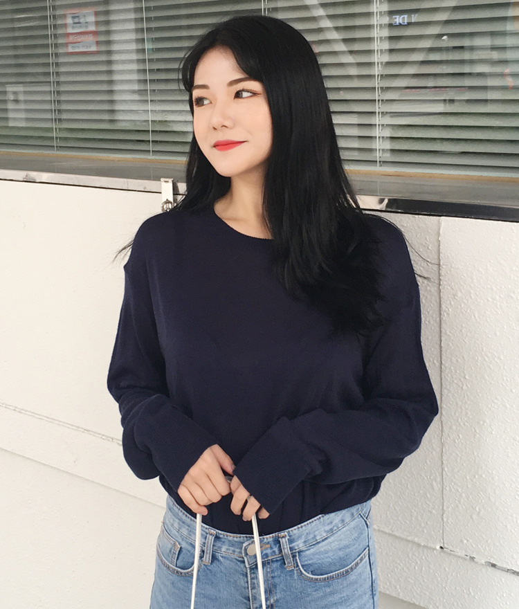 QUIETLABExtended Sleeve Basic Knit Top