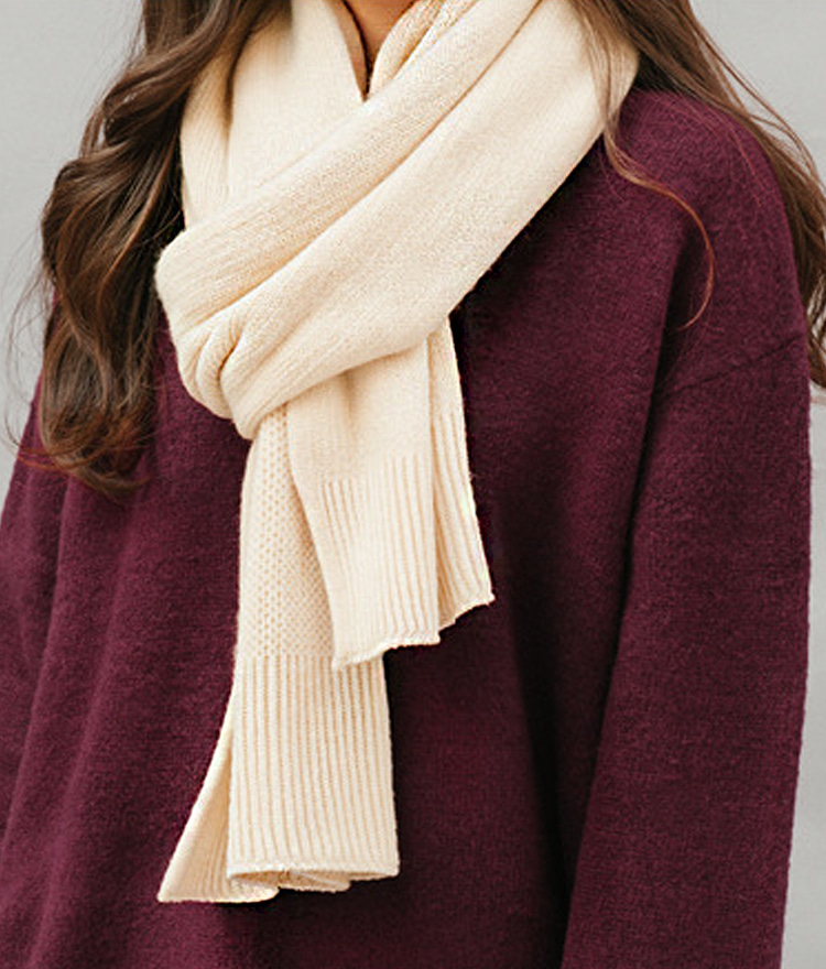 QUIETLABBasic Long Knit Scarf