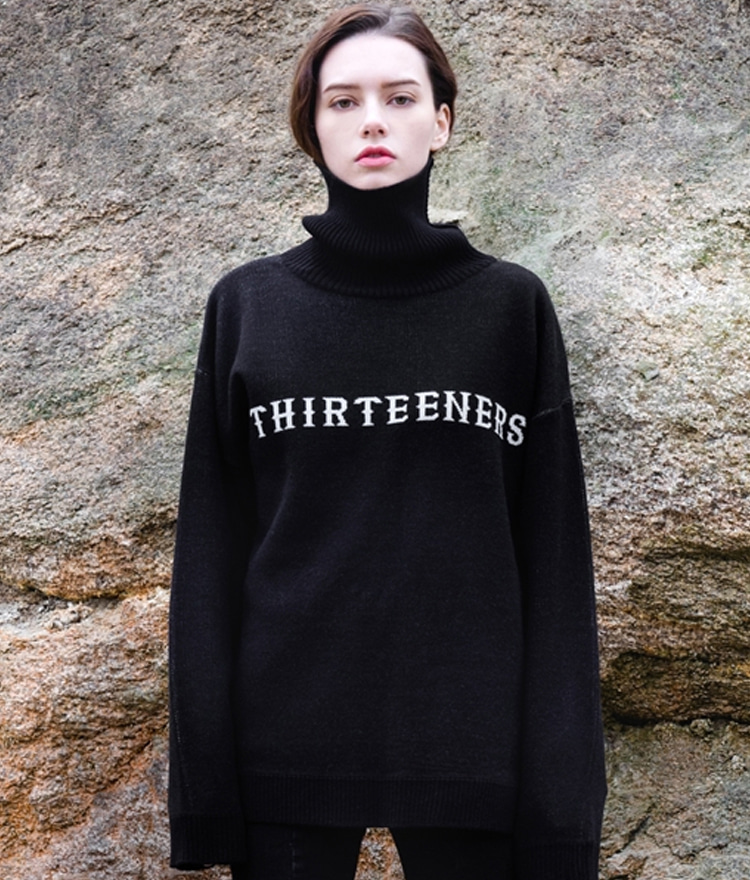 HIDETHIRTEENERS Turtleneck Knit Top
