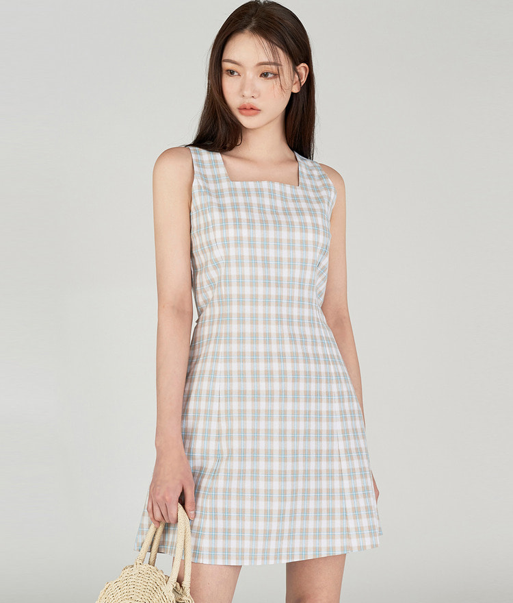 ESSAYBack Ribbon Check Dress